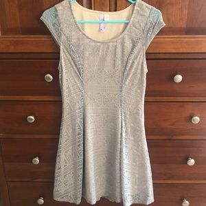 Light grey dress from a boutique